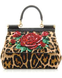 Dolce   Gabbana - Sicily Embellished Leopard-print Pony Hair Bag - Lyst b801e820e3