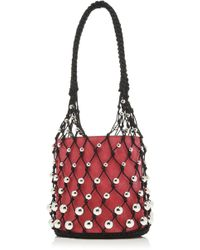 Les Petits Joueurs - Baby Olivia Leather Bag With Metal Pearls - Lyst