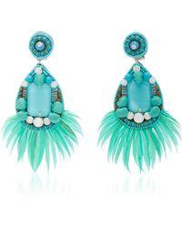Ranjana Khan - Embellished Turquoise Earrings - Lyst