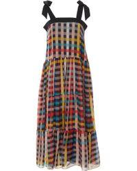 Carolina K - Iris Tiered Cotton-blend Dress - Lyst
