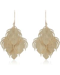 Annette Ferdinandsen - Peacock Feather Clusters 14k Gold Drop Earrings - Lyst