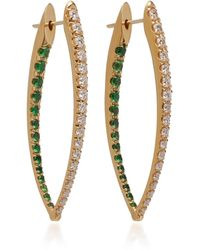 Melissa Kaye - Cristina 18k Gold, Diamond And Tsavorite Garnet Earrings - Lyst