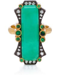 Arman Sarkisyan - 22k Gold, Chrysoprase And Diamond Ring - Lyst