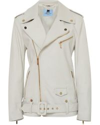 Blumarine - Patched Leather Jacket - Lyst