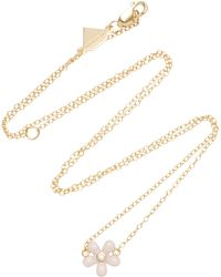 Alison Lou - 14k Gold Diamond Wildflower Necklace - Lyst