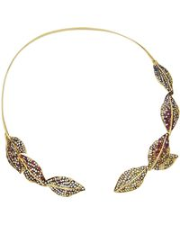 Ana Khouri - M'o Exclusive: Multicolor Leaf Necklace - Lyst
