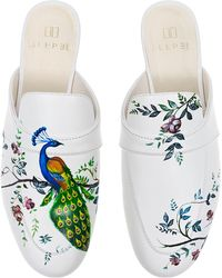 Alepel - M'o Exclusive: Peacock Floral Mule - Lyst