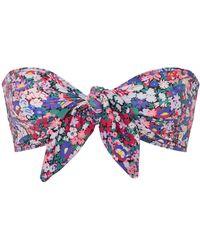 Ephemera   Liberty Tie Front Bikini Top   Lyst