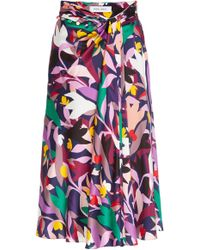 Prabal Gurung - Moore Printed Gathered Silk Skirt - Lyst