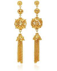 Mallarino | Gala Embellished Ball And Tassel Earrings | Lyst