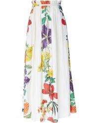 Carolina K - Gloria Paper Bag Floral Cotton-blend Maxi Skirt - Lyst