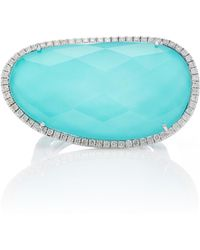 Meira T | 14k White Gold, Turquoise And Diamond Ring | Lyst