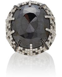 Martin Katz - One-of-a-kind Cushion Black Diamond Ring - Lyst