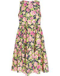 MDS Stripes - Sleeveless Peasant Dress - Lyst