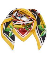 Dolce & Gabbana - Multi-print Silk-twill Scarf - Lyst