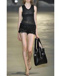 N°21 - Blanche Sequin Fringe Shorts - Lyst