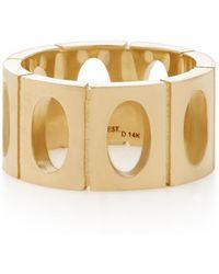 Established - 18k Gold Oval Link Ring - Lyst