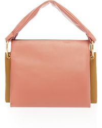 Marni - Beat Tricolor Leather Bag - Lyst
