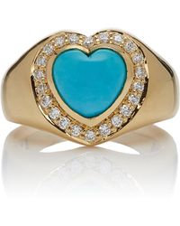 Khai Khai - Sleeping Beauty Signet Ring - Lyst