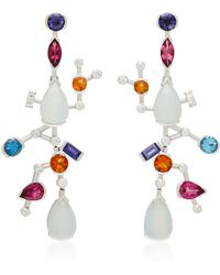 Sanjay Kasliwal - Abstract Chalcedony And Tourmaline Earrings - Lyst