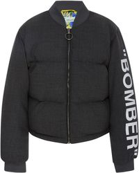 Off-White c/o Virgil Abloh - Printed Quilted-shell Puffer Jacket - Lyst
