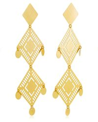 Paula Mendoza - Kambiru Gold-plated Brass Earrings - Lyst