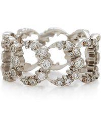 Colette - Moon 18k White Gold Diamond Ring - Lyst
