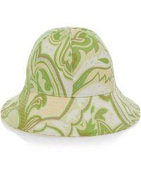 Etro - Floral-print Silk Bucket Hat - Lyst
