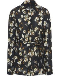 Off-White c/o Virgil Abloh - Floral Crepe Pyjama Shirt - Lyst