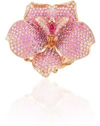 Wendy Yue - Sapphire Flower Ring - Lyst