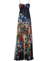 Roberto Cavalli - Empire Silk Dress - Lyst