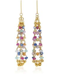 Mallary Marks - Eiffel Tower 18k Gold Multi-stone Earrings - Lyst