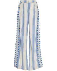 Dodo Bar Or - Kika Striped Cotton-gauze Wide-leg Pants - Lyst