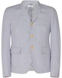 Thom Browne - Striped Cotton Blazer - Lyst