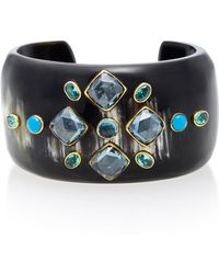 Ashley Pittman - Jamii Horn Multi-stone Bangle - Lyst
