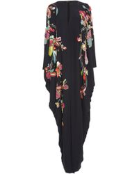 Reem Acra - Embroidered Silk Kaftan - Lyst