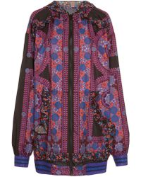Anna Sui - Rose Medallion Border Windbreaker - Lyst