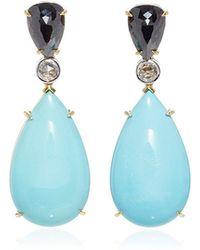 Ara Vartanian - Turquoise And Diamond Earrings - Lyst