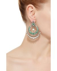Sanjay Kasliwal - Indorussian Emerald And Pearl Drop Earrings - Lyst