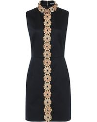 Holly Fulton - Sleeveless Floral Embroidered Dress - Lyst