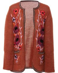 Anna Sui - James Coviello For Floral Embroidered Cardigan - Lyst