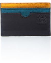 Loewe - Rainbow Plain Leather Card Holder - Lyst