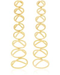 Joanna Laura Constantine - Gold-plated Dangling Knot Earrings - Lyst
