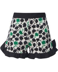 Emanuel Ungaro - Floral Ruffle Shorts - Lyst