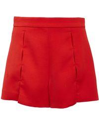 Alexis - Milki Split-detailed Crepe De Chine Mini Shorts - Lyst