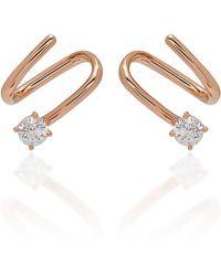 04af71441 Anita Ko Arc Diamond Studs - Lyst