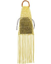 Jil Sander - Knotted Bamboo Woven Cotton Top Handle Bag - Lyst