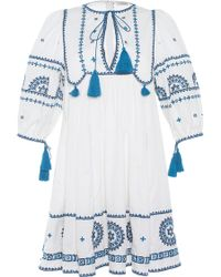 Talitha - Embroidered Indian Peasant Dress - Lyst