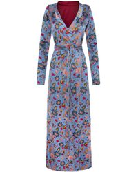 Adriana Iglesias - Beverly Silk Satin Reversible Robe - Lyst
