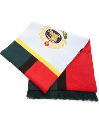 Burberry - Embroidered Color Block Cashmere Scarf - Lyst
